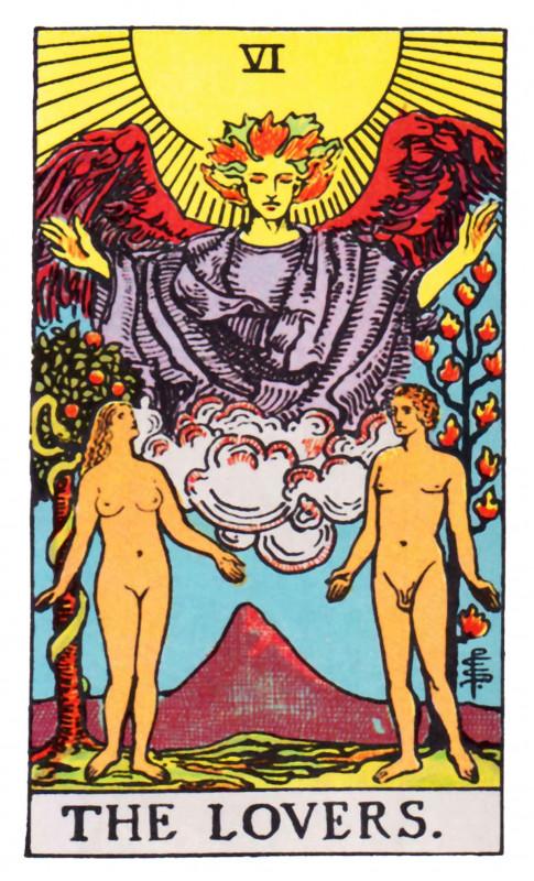 塔罗牌牌意:恋人正位与恋人逆位的解析与含义插图