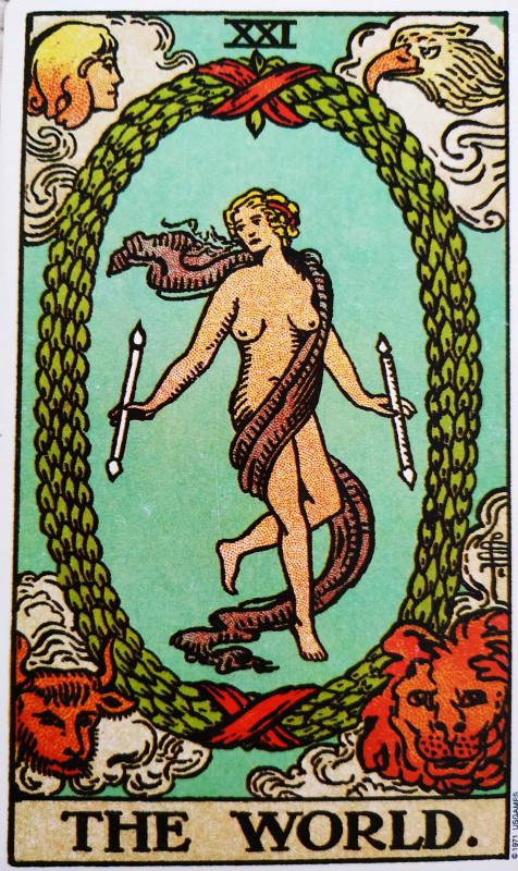 塔罗牌牌意:世界正位与世界逆位的解析与含义插图