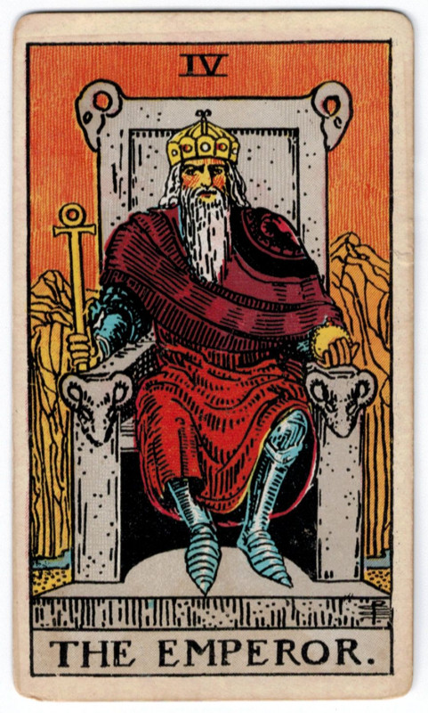 塔罗牌牌意:皇帝正位与皇帝逆位的解析与含义插图