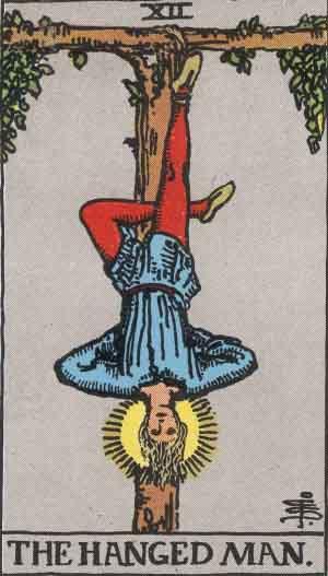 塔罗牌牌意:吊人正位与吊人逆位的解析与含义插图