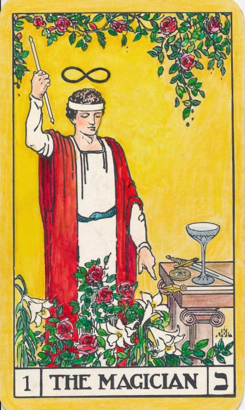 塔罗牌牌意:魔术师正位与魔术师逆位的解析与含义插图