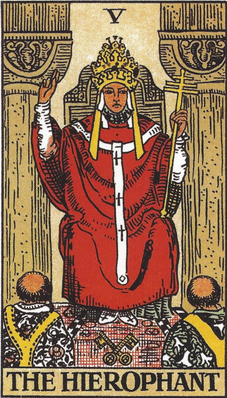 塔罗牌牌意:教皇正位与教皇逆位的解析与含义插图
