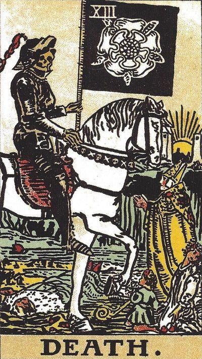 塔罗牌牌意:死神正位与死神逆位的解析与含义插图