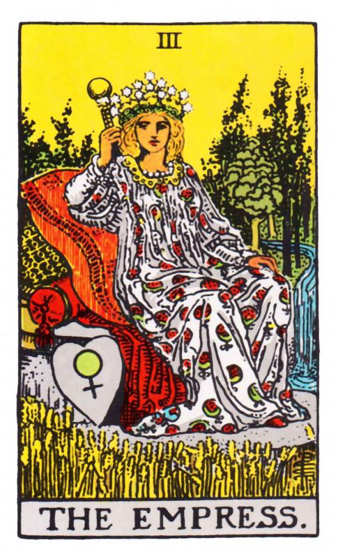 塔罗牌牌意:皇后正位与皇后逆位的解析与含义插图