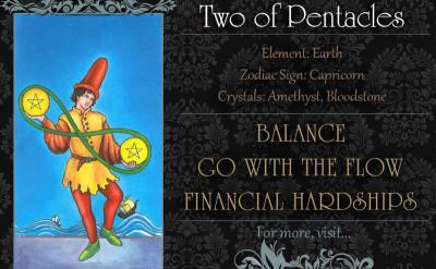 塔羅牌義:錢幣二 Two of Pentacles