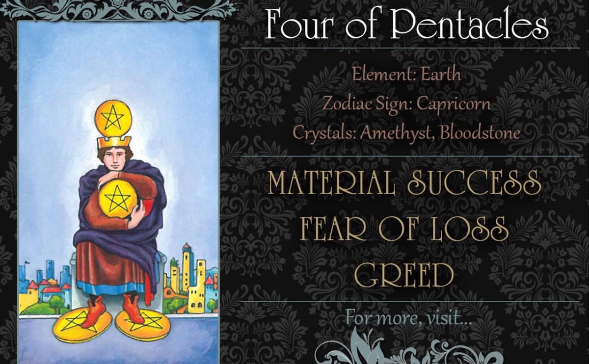 塔羅牌義:錢幣四 Four of Pentacles