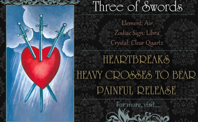 塔羅牌義:寶劍三 Three of Swords