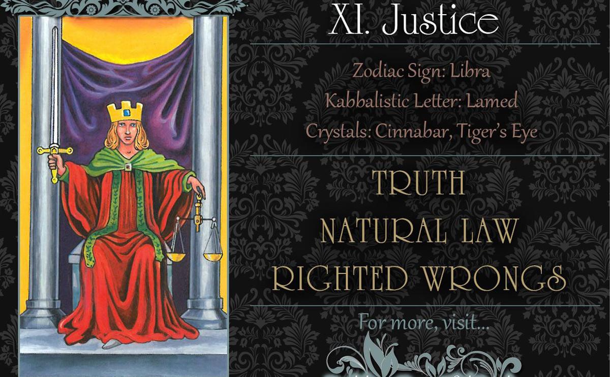 塔羅牌義:正義 The Justice