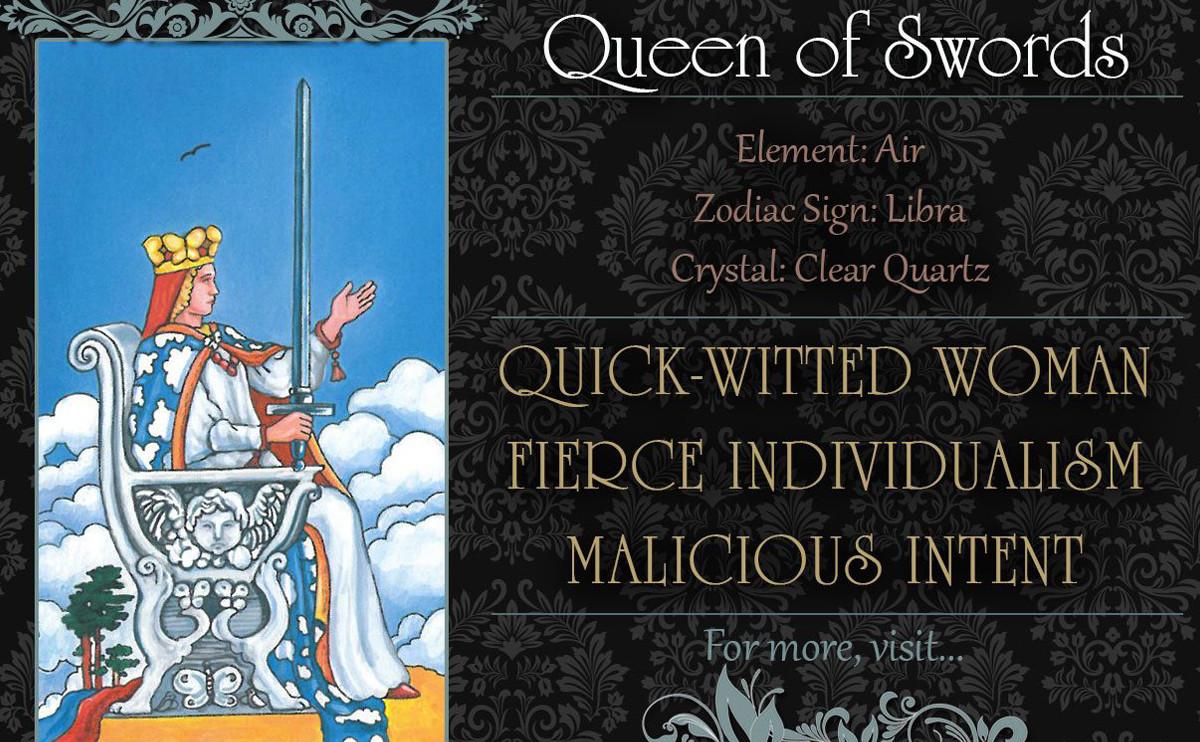塔羅牌義:寶劍皇后 Queen of Swords