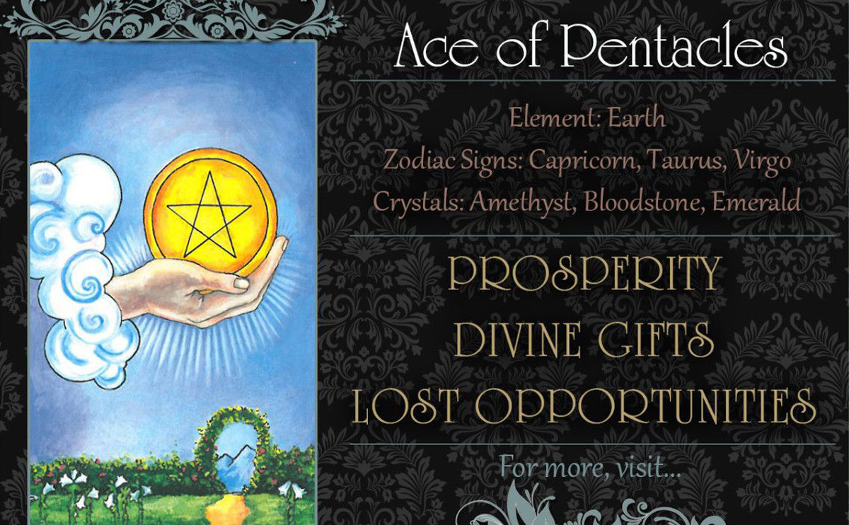 塔羅牌義:錢幣一 Ace of Pentacles