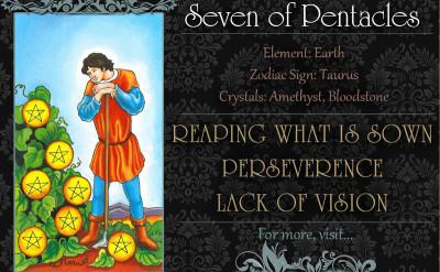 塔羅牌義:錢幣七 Seven of Pentacles