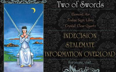 塔羅牌義:寶劍二 Two of Swords