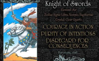 塔羅牌義:寶劍騎士 Knight of Swords