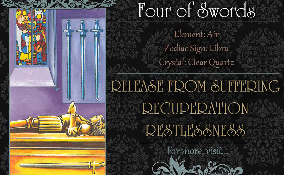 塔羅牌義:寶劍四 Four of Swords