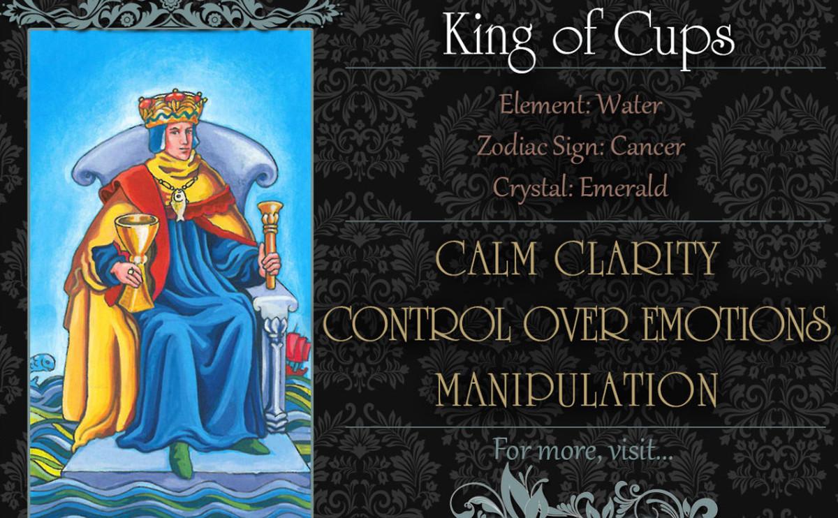 塔羅牌義:聖杯國王 King of Cups