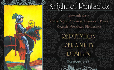 塔羅牌義:錢幣騎士 Knight of Pentacles