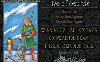 塔羅牌義:寶劍五 Five of Swords