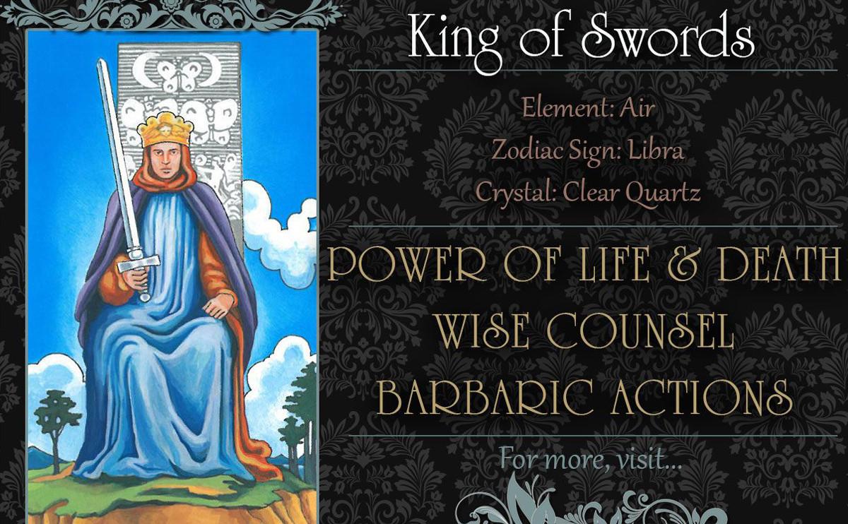 塔羅牌義:寶劍國王 King of Swords