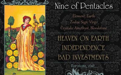 塔羅牌義:錢幣九 Nine of Pentacles