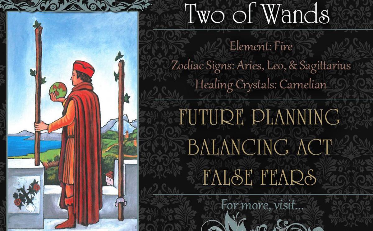 塔羅牌義:權杖二  Two of Wands